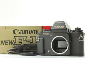 【EXC+++++: w BOX】 CANON NEW F-1 AE FINDER 35mm SLR Camera Black Body Japan #304