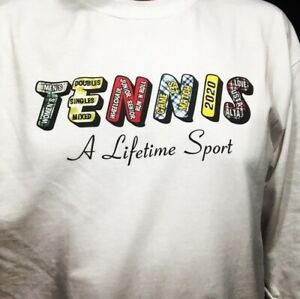 Tennis Its A Lifetime Sport t shirt Printed in USA Long Sleeve