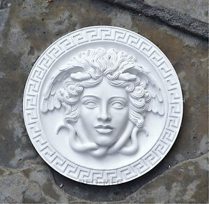 Medusa Versace Antique vintage design Gorgon Artifact Carved Sculpture Statue 8quot; $79.99