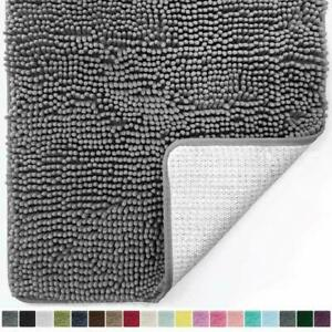Bath Rug Mat Luxury Chenille Extra Soft Absorbent Shaggy Plush Machine Wash Dry