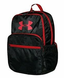Under Armour HOF Boy Athletic BACKPACK 1256655 NWT black camo & red 15 X11 X 3 $29.99