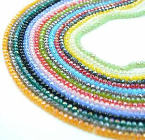 1350 BULK Glass Beads Assorted Mix 6mm Rondelle Abacus Lot Wholesale Set