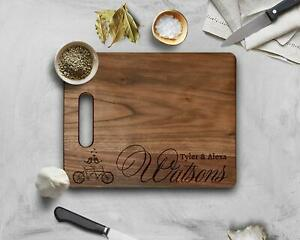 Walnut Cutting Board Personalized Anniversary Gift Groom & Bride's Name