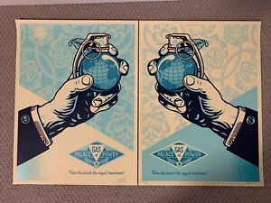 Obey Royal Treatment Shepard Fairey Obey Giant Signed  Money + Skull 2 print SET