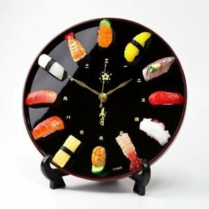 Sushi Clock Food Sample Made Japanese Craftsman CL27S from Japan F S $169.99