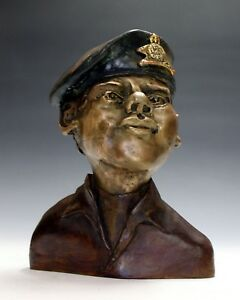 Special 22nd Regiment sculpture of young soldier bronze