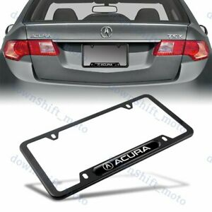 1PCS For ACURA Black Metal Stainless Steel License Plate Frame MDX RDX TSX TL $10.99