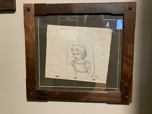 Walt Disney Production Drawing Wendy Darling Peter Pan Milt Kahl Original!!! $1,150.00
