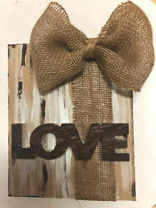 Handpainted 8x10 Canvas WITH WOOD WORD