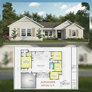 quot;The Alexanderquot; Custom Home House Building Plans 1663 sf