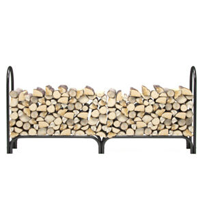Regal Flame 8 Foot Indoor Outdoor Heavy Duty Firewood Shelter Fireplace Log Rack