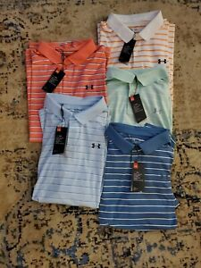 Men's Under Armour Striped Performance 2.0 Golf Polo $26.00