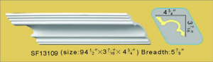 Decorative Crown Molding Polyurethane PU 94.5quot; White Lot of 4 31.5 ft SF13109 $144.68