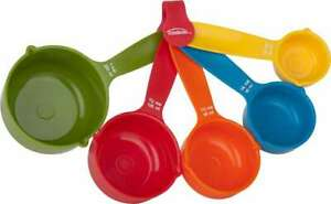 Measuring Cups Set Of 5 Assorted Colors 063562427074