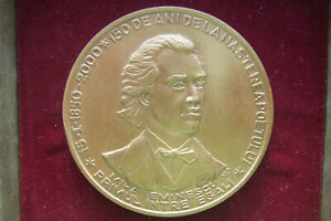 ROMANIA 150 years since the birth of the poet Mihai Eminescu BRONZE MEDAL $100.00