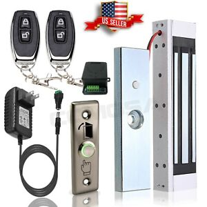 Door Access Control System Electric Magnetic Lock 2 Wireless Remote Controls