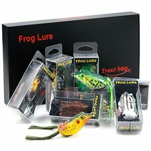 Frog Fishing Lure Hollow Body Topwater Soft Baits Lures For Bass Pike Snakehead