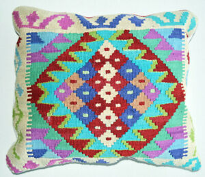 Mullti Color Hand Made Kilim Cushion Cover with Filling