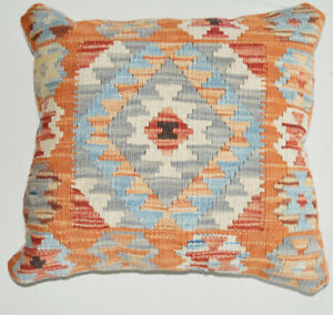 Hand Made Kilim Cushion Cover with Filling For Bed Rooms