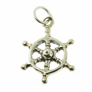 925 Sterling Silver Sailors Wheel Charm Made in USA $9.99