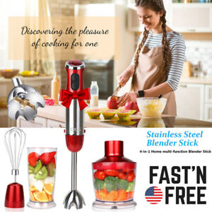 800W Kitchen Hand Blender Immersion Stick Electric Chopper Mixer 12 Smart Speed