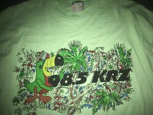 VTG 80S XL WILKES BARRE 98.5 KRZ TOUKIE BIRD BIRTHDAY WHEEL BALLOONS SHIRT