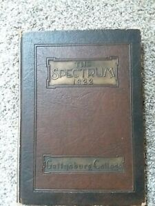 Gettysburg College The Spectrum Yearbook 1922 $25.00