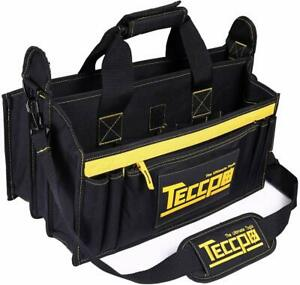 Tool Bag TECCPO Heavy Duty Bag 3 Max Extended Space and 9+7 Pockets with Wear $20.99