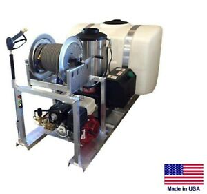 PRESSURE WASHER Commercial - Skid Mounted - Hot Water - 4 GPM - 200 Gallon Tank