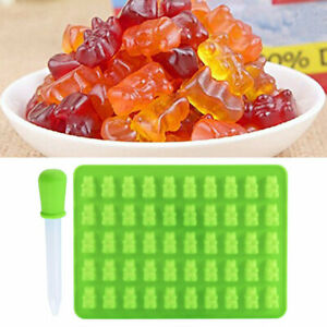 50Gummy Maker Cavity Bear Mold Novelty Silicone Chocolate Ice Useful Tray C L0L3