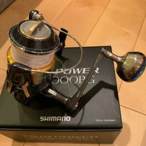 SHIMANO With Shimano twin power SW8000PG Libre handle Good Condition Fishing