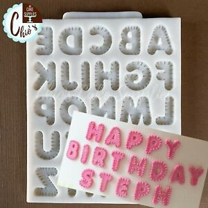 Stretched Uppercase Alphabet Silicone Mold
