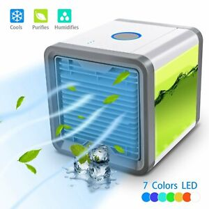 Small Fan Cooling Cooler Portable Mini Desktop Air Conditioner Plug in operation