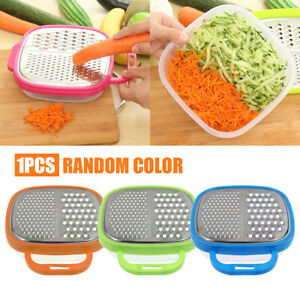 Kitchen Cheese Food Vegetable Carrot Grater Slicer Shredder With Container US