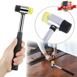 25mm Dual Head Mallet Nylon Rubber Hammer Jewelers Metal Jewelry Leather Crafts