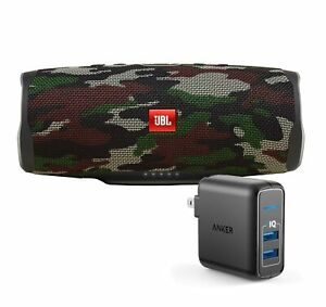 JBL Charge 4 Camouflage BT Speaker w USB Wall Charger