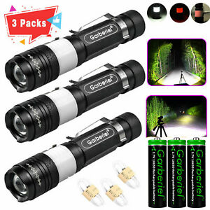 Ultra Bright Garberiel Zoom T6 LED USB Rechargeable 18650 Flashlight Torch Lamp