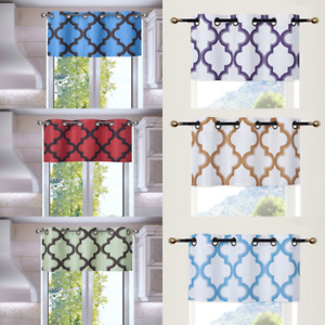 1 VALANCE PRINTED 2-TONE BLACKOUT ROD POCKET FOAM LINED WINDOW CURTAIN TOPPER