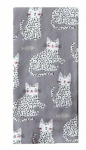 Cat Lover's PURR Kitchen Towel Dual Purpose Flat Weave Front Terry Cloth Back