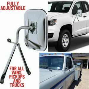 Universal Side Mirror for Trucks Full Size Low Mount Van Pickup Replacement