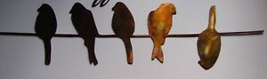 Birds on a wire Metal Wall Decor 22