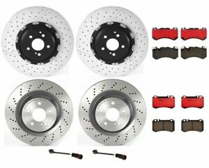 Front Rear Full Brembo Brake Kit Disc Rotors Ceramic Pads For MB R230 Sport Pkg