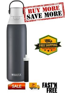 20 Ounce Filtering Water Bottle with Filter - Insulated Stainless Steel Bottle