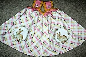 C K's Double Crochet Premium Heavy Hanging Towels by Cathy K  ~ EASTER BUNNY