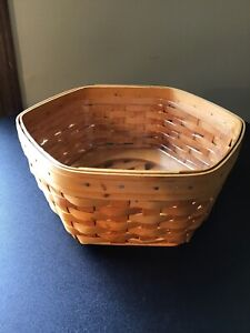 1998 Longaberger Basket Octagon With Plastic Protector $24.99