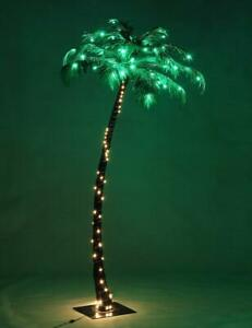Palm Tree light LED lighted tropical outdoor super bright pool pre lit metal