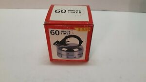 60 MINUTE COUNTING TEAPOT SHAPED KITCHEN COOKING TIMER OPEN BOX PICKER FIND!