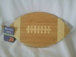 Football Shaped Cutting & Serving Board NEW w/Tag Totally Bamboo 15