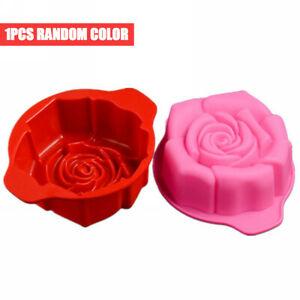 3D Flower Rose Shape Silicone Cake Mold Bakeware Cupcake Mould Baking Soap Tool