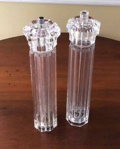 Two Vintage Acrylic olde Thompson Salt and or Pepper mill  12.5